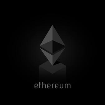 Ethereum. logo ethereum di criptovaluta. crittografia denaro moderno. illustrazione vettoriale