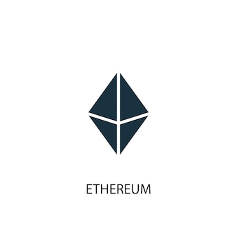 Icona di ethereum. illustrazione semplice dell'elemento. disegno di simbolo del concetto di ethereum. può essere utilizzato per web e mobile.