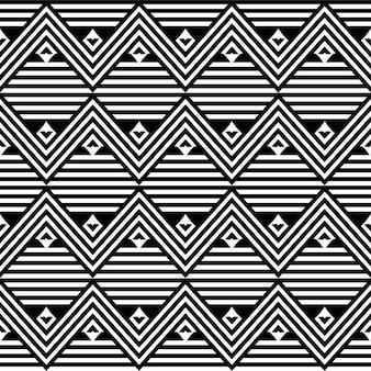 Arte lineare africana etnica trama vettoriale senza soluzione di continuità o sfondo a strisce