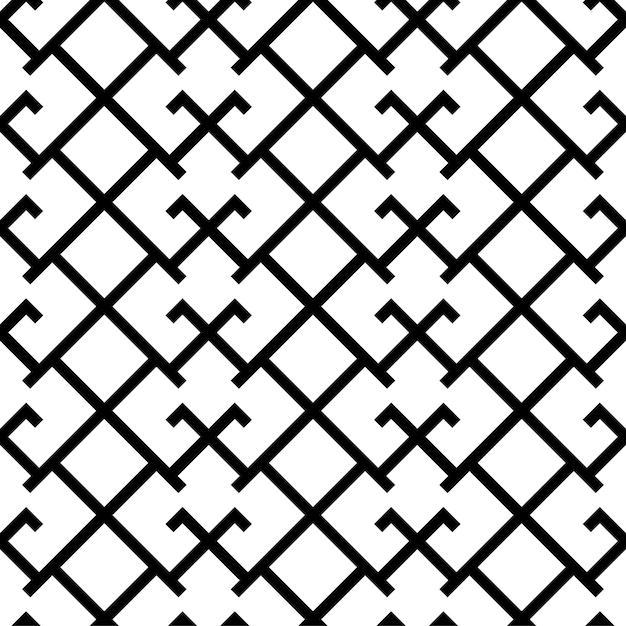 Arte baltica etnica croce ornamento senza cuciture.