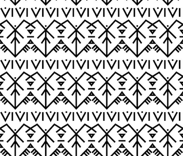 Etnico baltico folk tradizionale ornamento seamless lettone lituano estone simboli