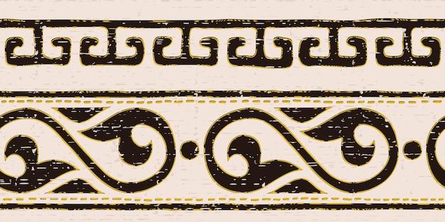 Banner etnico con motivo senza soluzione di continuità