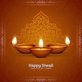 Colore marrone etnico fondo felice del festival culturale di diwali