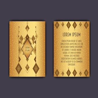 Modello di biglietto da visita etnico con elemento geometrico tribale