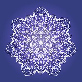 Mandala di meditazione frattale etnico