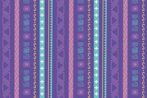 Etnico fatto a mano, mosaico tribale antico decorazione layout seamless pattern illustrazione vettoriale