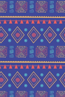 Etnico fatto a mano, tradizionale motivo tribale texture decorazione sfondo illustrazione vettoriale