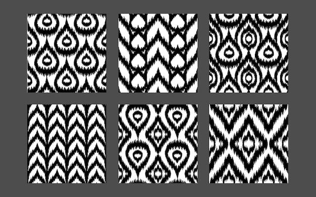 Collezione di motivi etnici senza cuciture set di stampe tessili boho