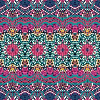 Trama vettoriale a strisce etniche per tessuti motivi ornamentali tradizionali