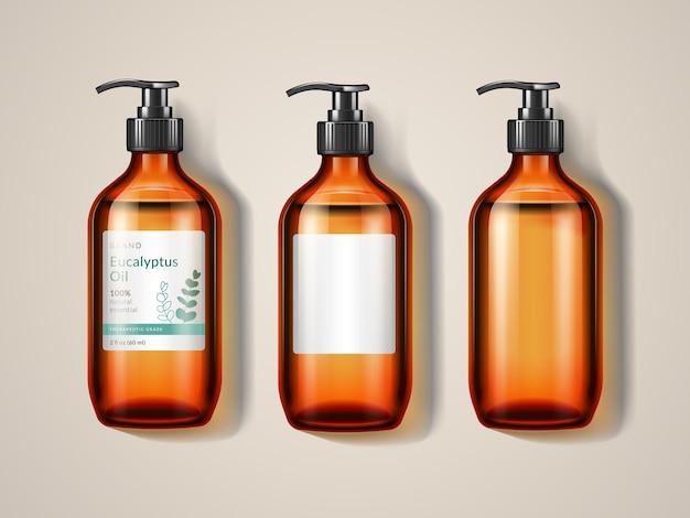Bottiglia o spray di vetreria eucalypti