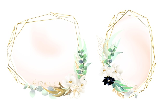 Cornici floreali di eucalipto