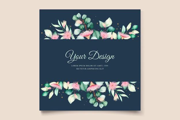 Set di biglietti d'invito per matrimonio con fiori di eucalipto