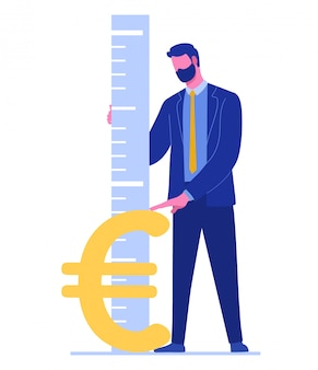 Tasso di cambio dell'euro. concetto di cambio valuta