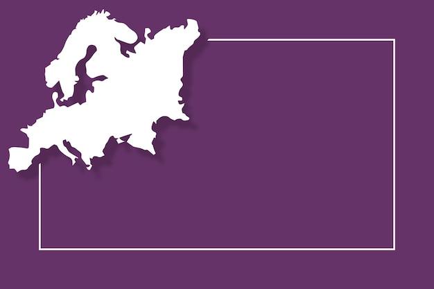 Mappa dell'europa con modello di sfondo vettoriale