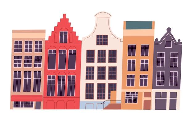 Paesaggio urbano di architettura storica del paesaggio urbano europeo vettore.