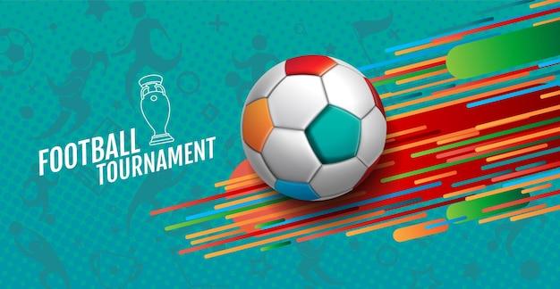 Torneo europeo di calcio, 2020-2021, illustrazione di sfondo.