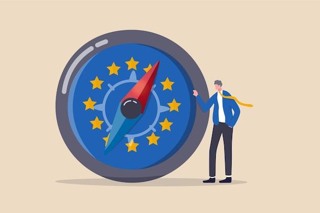 Direzione economica dell'unione europea dopo il concetto brexit