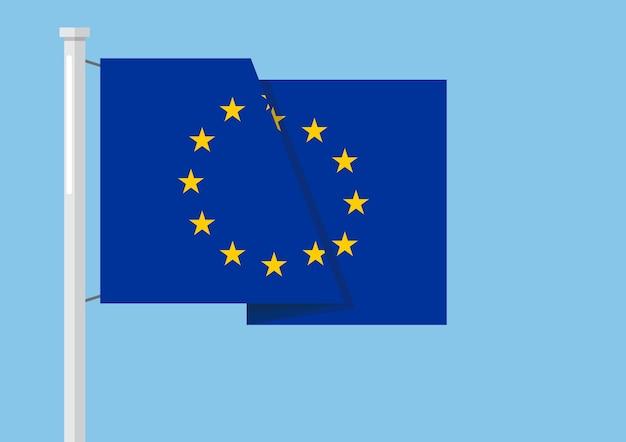 Bandiera dell'unione europea con copyspace