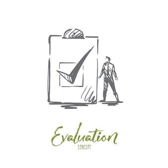 Illustrazione di valutazione disegnata a mano