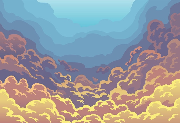 Nuvole del cielo della sera