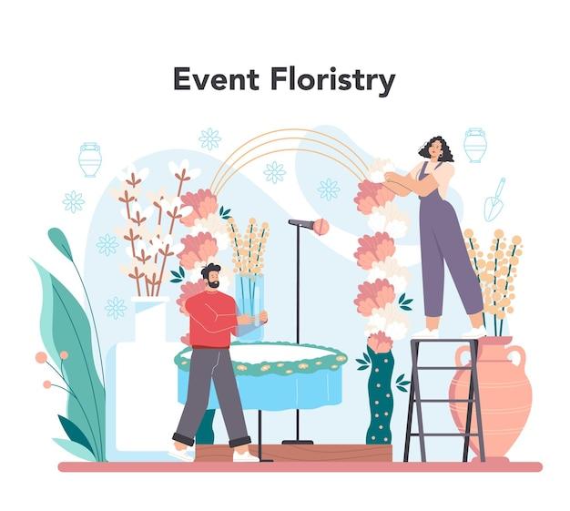 Concetto di floristica per eventi