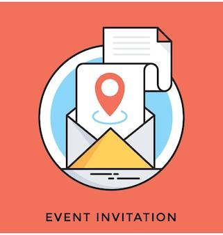 Icona di vettore piatto invito evento