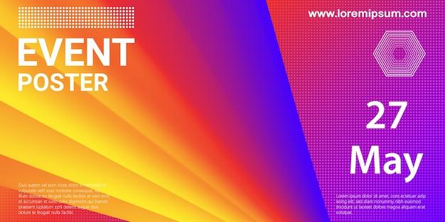 Locandina dell'evento. sfondo del partito. flusso del fluido. composizione futuristica. forme liquide. disegno astratto della copertina.