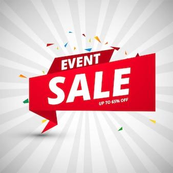 Modello di design colorato banner di vendita di eventi