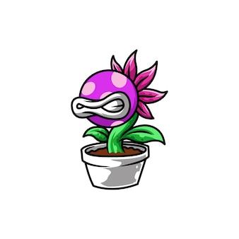 Piante malvagie fiori da giardino in vaso verde pericoloso