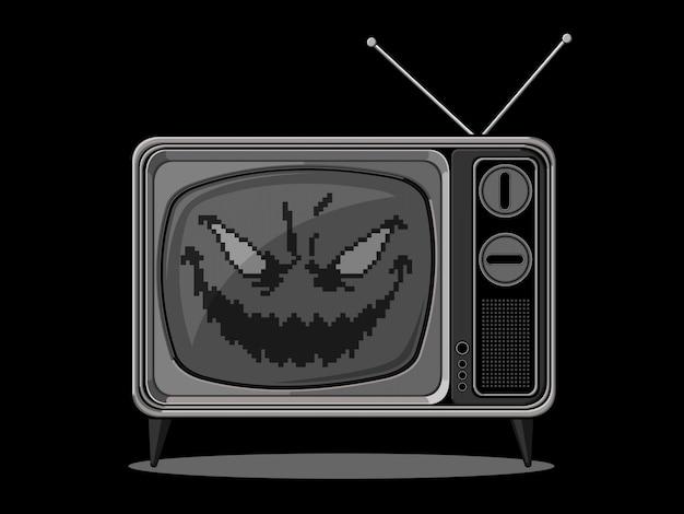Male la televisione retrò