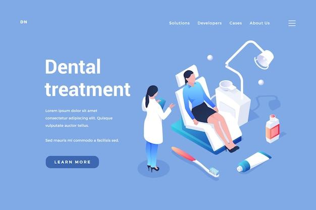Esame e cure odontoiatriche il dentista esamina la bocca del paziente