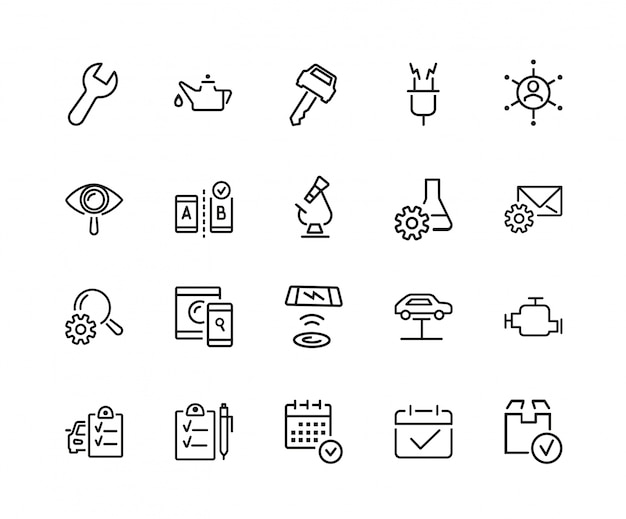 Set di icone di esame