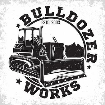 Illustrazione di progettazione di logo di lavoro di scavo