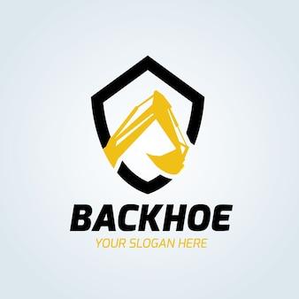 Illustrazione vettoriale di escavatore e backhoe logo
