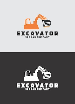 Logo della costruzione dell'escavatore