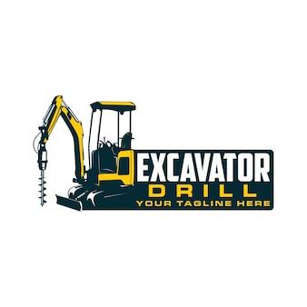 Logo trapano escavatore