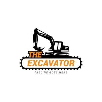 Concetto di marchio dell'escavatore