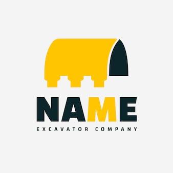Modello di logo di escavatore