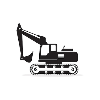 Escavatore silhouette icon vector