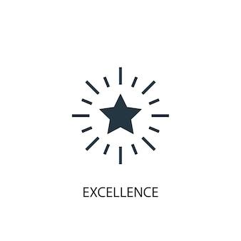 Icona di eccellenza. illustrazione semplice dell'elemento. design del simbolo del concetto di eccellenza. può essere utilizzato per web e mobile.