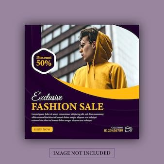Post di instagram social media di vendita di moda esclusiva