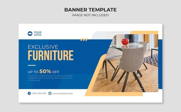 Esclusivo modello di banner web per mobili