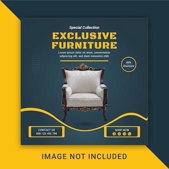 Mobili esclusivisocial media post tamplate design premium