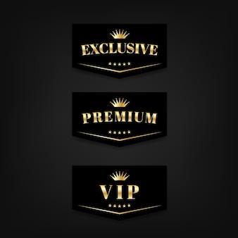 Etichetta di segno vip esclusiva e premium