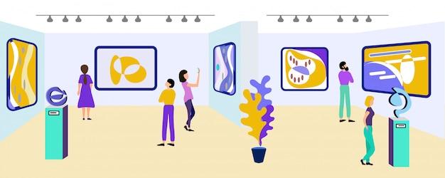 Escursione alla galleria d'arte e composizioni creative