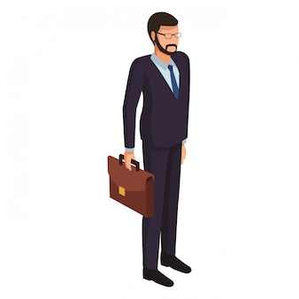 Avatar uomo d'affari esecutivo isometrico