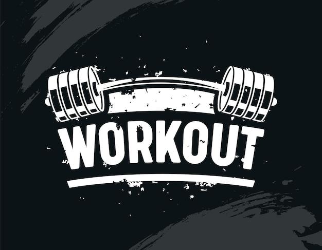 Esercizio in palestra con bilanciere, body training, bodybuilding creativo e concetto di motivazione fitness.