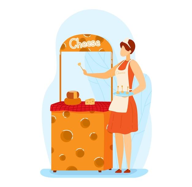Tipi di esposizione promozione del formaggio