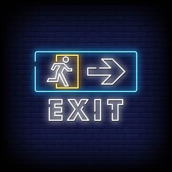 Esci dall'insegna al neon