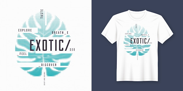 T-shirt esotiche e abbigliamento dal design moderno con stile tropicale